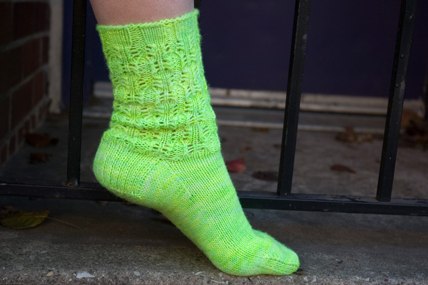 Electric Eyelet Socks