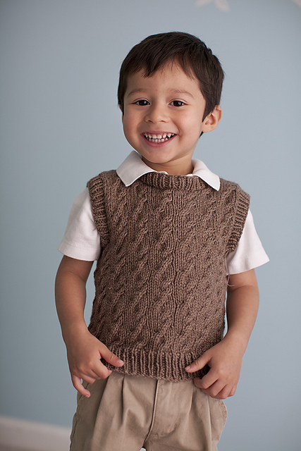 fortune cabled vest