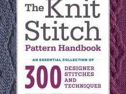 No-Bull Book Review:  The Knit Stitch Pattern Handbook, by Melissa Leapman