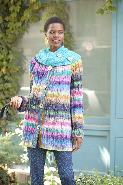 noro cabled caot