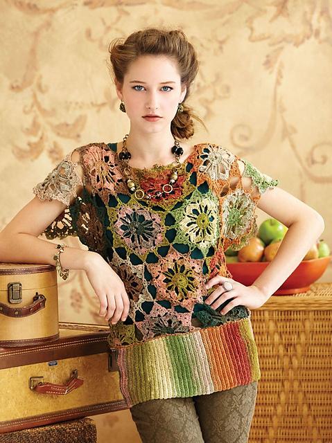 noro crochet tunic