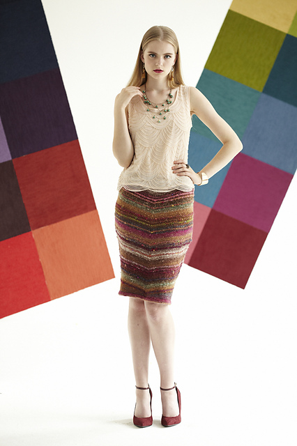 noro skirt chevron