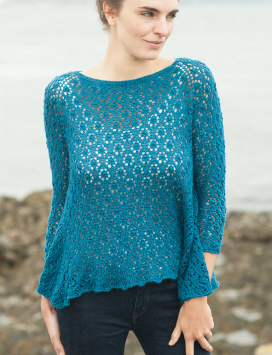 triangle blue tunic