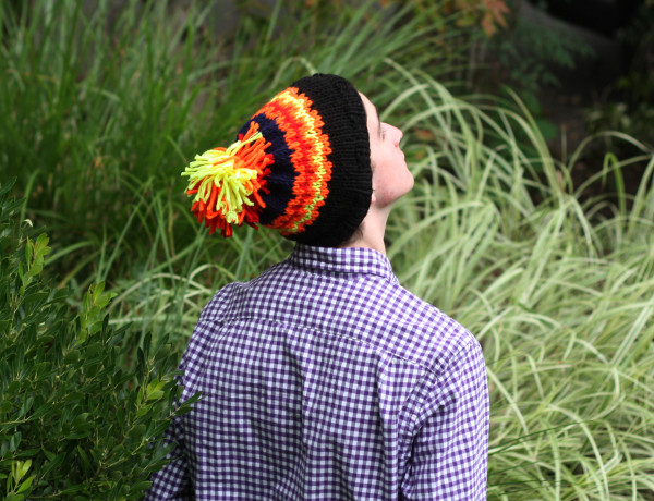 One of the hats I knit last summer