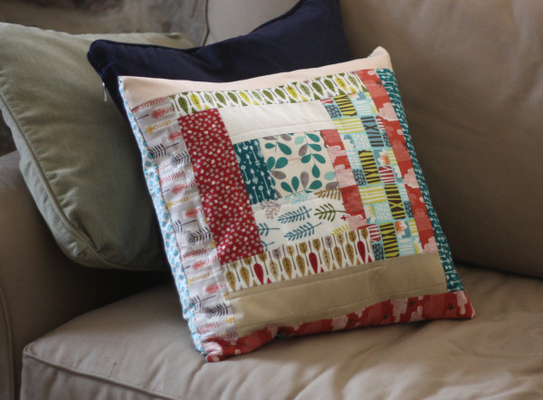log cabin pillow